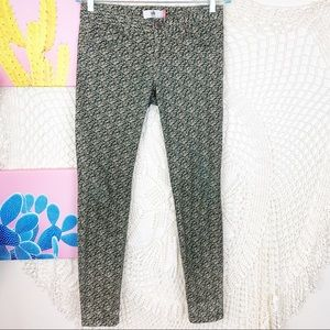 Cabi ditsy floral green skinny jeans size 2
